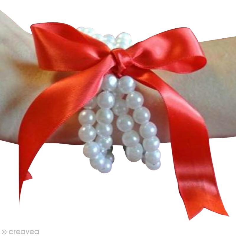Bracelet en perles avec ruban id es et conseils perles et bijoux - Bracelet perle et ruban ...