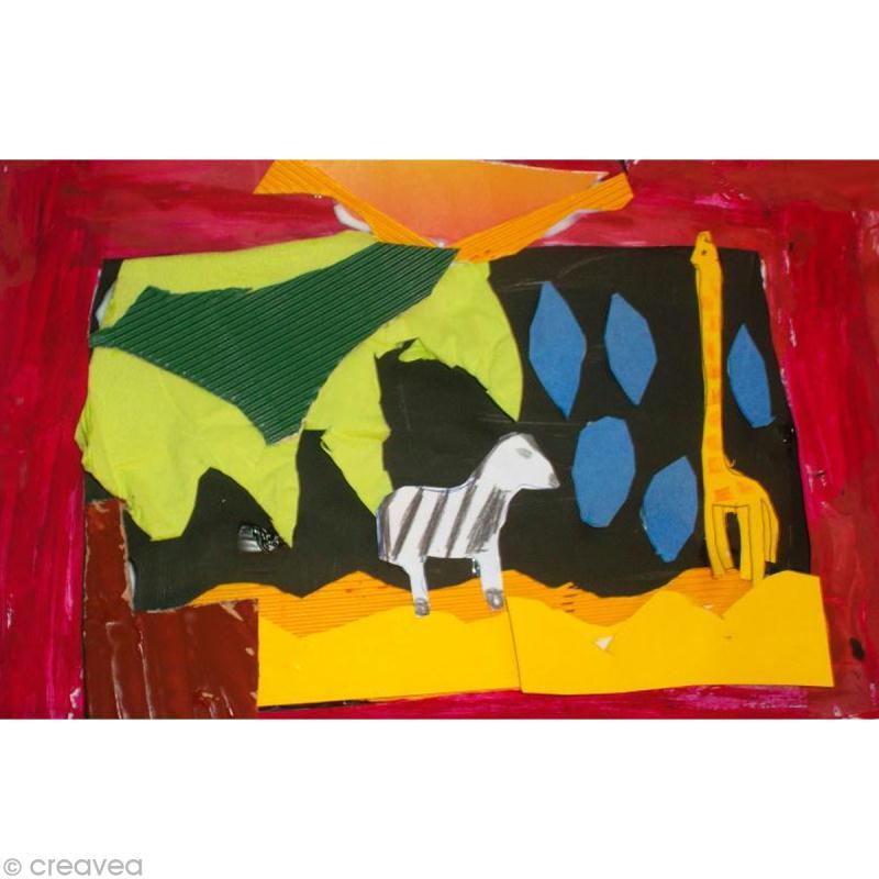 faire un tableau il pleut en afrique id es et conseils activit manuelle enfant. Black Bedroom Furniture Sets. Home Design Ideas