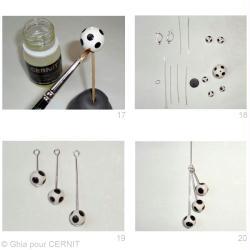 6. Montage des perles en Cernit