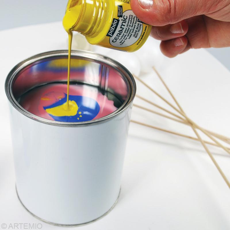 Oeuf de p ques marbr s multicolore comment faire - Peinture effet vieilli blanc ...