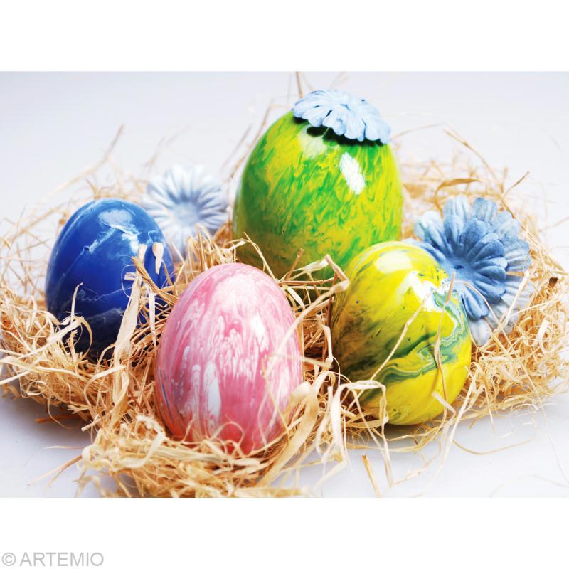 Oeuf de Pâques marbrés multicolore : comment faire ? - Idées et ...