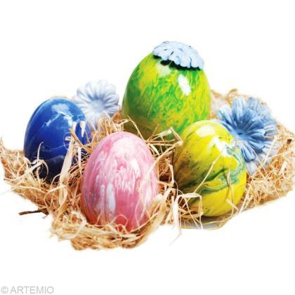 Oeuf de Pâques marbrés multicolore : comment faire ?