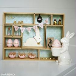 6. Décoration de la case 5 avec un lapin de Pâques en bois