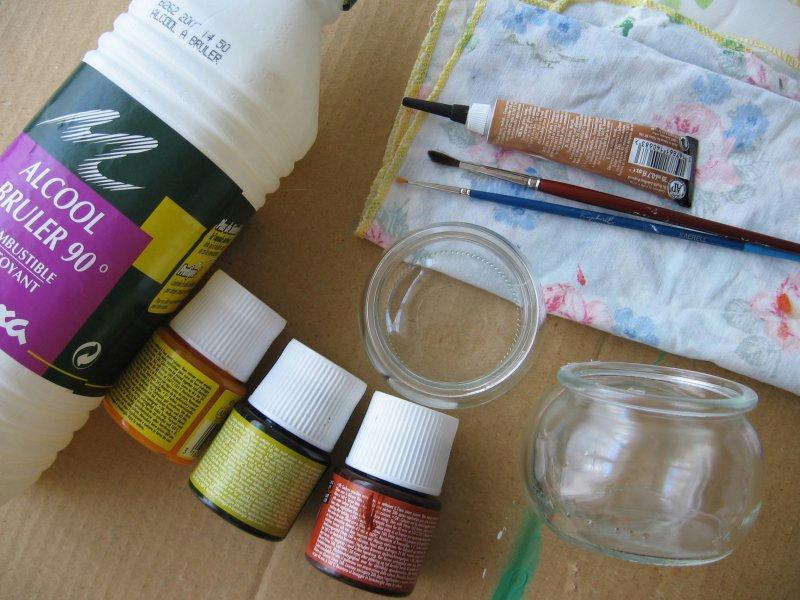 photophore en peinture sur verre id es et conseils. Black Bedroom Furniture Sets. Home Design Ideas