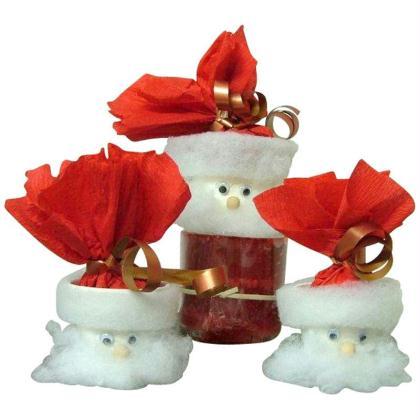 Tête de Père Noël en mini pot