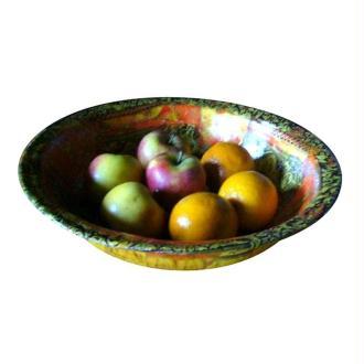 Restaurer une bassine émaillée en corbeille à fruits