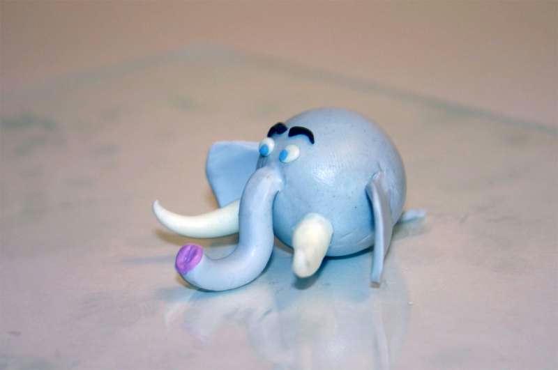 Figurines d'animaux en pâte fimo : L'éléphant - Idées et conseils Modelage