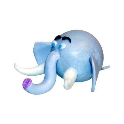 Figurines d'animaux en pâte fimo : L'éléphant