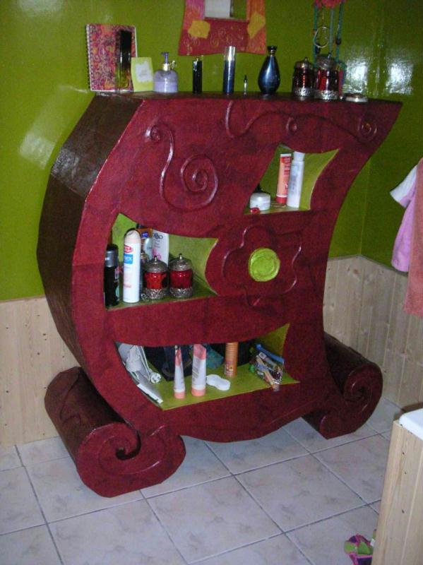D corer un meuble en carton id es et conseils meuble en carton - Decorer un meuble ...