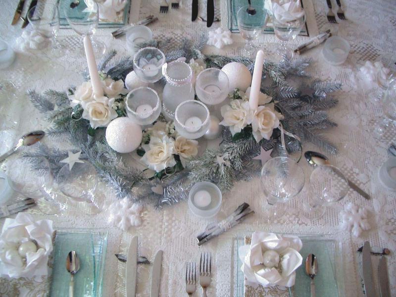 Centre de table givr id es et conseils d coration de table - Centre de table pour noel a fabriquer ...