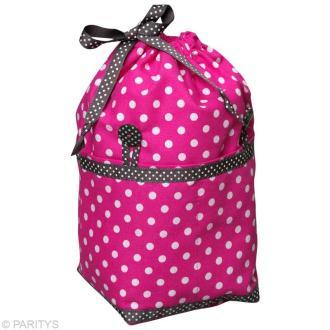 Coupon tissu patchwork pois rose et blanc 45 x 55 cm coupon de tissus - Confectionner un abat jour ...
