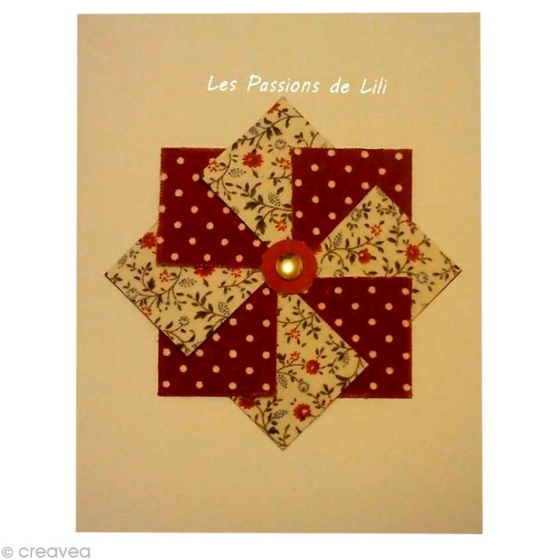 tuto carte moulin vent en papier tissu id es et conseils carterie. Black Bedroom Furniture Sets. Home Design Ideas
