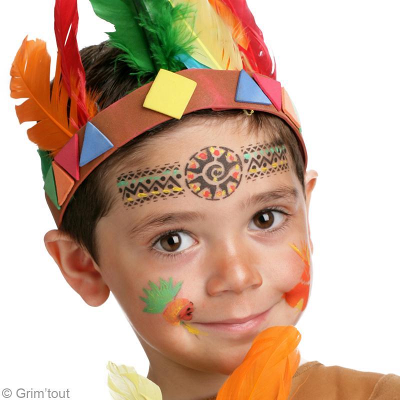 Maquillage indien gar on tuto simple en vid o id es et conseils maquillage - Maquillage halloween garcon simple ...