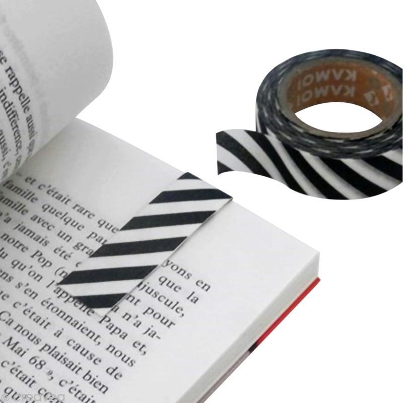 marque page magn tique en masking tape id es et conseils. Black Bedroom Furniture Sets. Home Design Ideas
