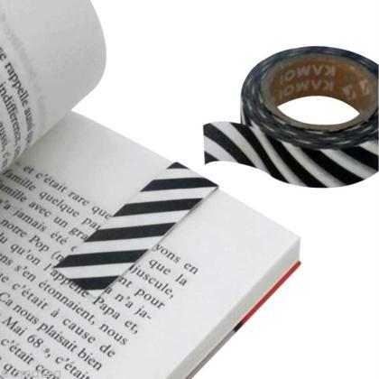 marque page magn tique en masking tape id es et conseils masking tape. Black Bedroom Furniture Sets. Home Design Ideas