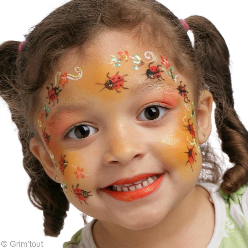 Maquillage enfant fleur - Maquillage simple enfant ...