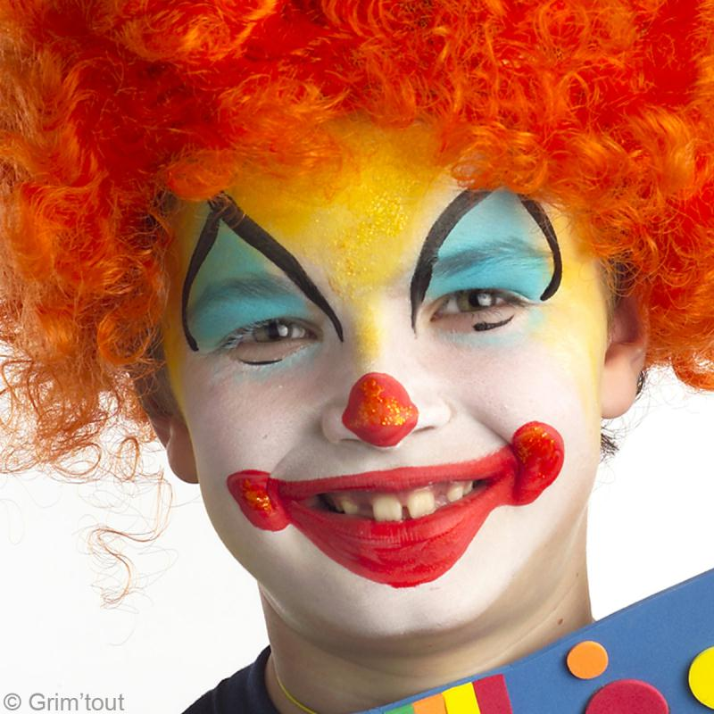 Tuto maquillage clown farceur id es et conseils maquillage - Maquillage de clown facile ...