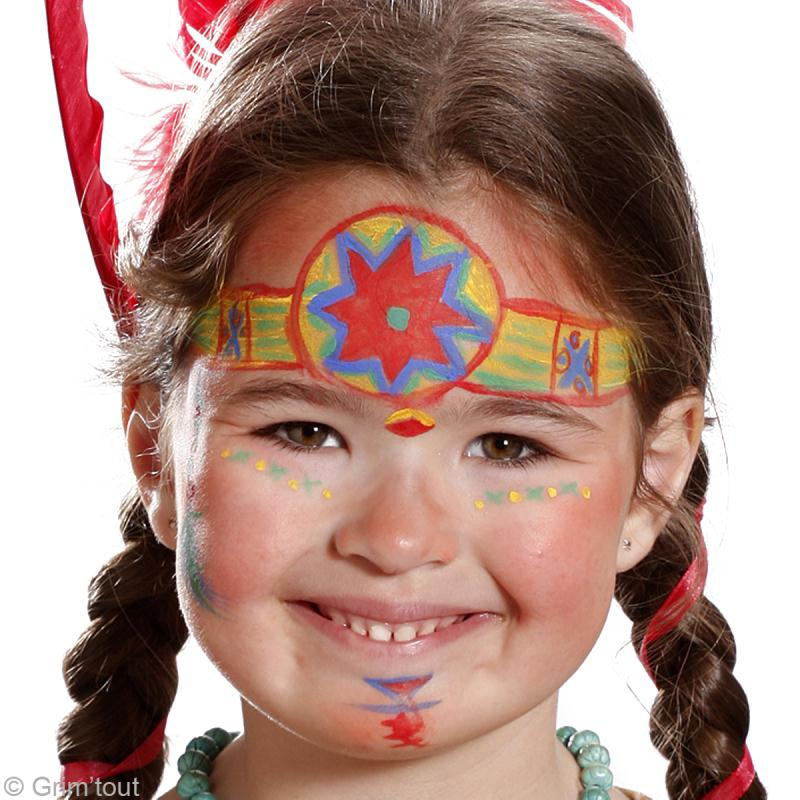Tuto maquillage pocahontas id es et conseils maquillage - Modele maquillage princesse ...