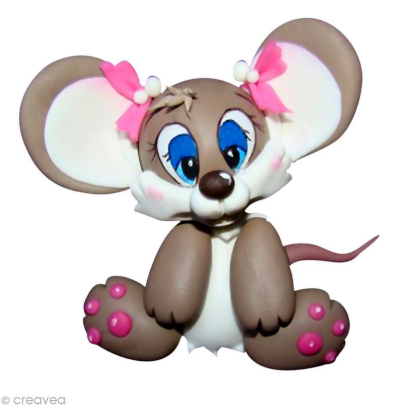 modeler une petite souris en porcelaine froide fox id es. Black Bedroom Furniture Sets. Home Design Ideas