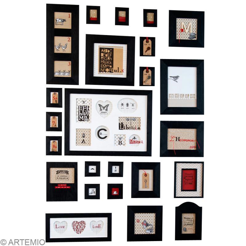 Cr er un mur de cadres id es et conseils home d co cadre tableau - Decorer un mur avec des cadres photos ...