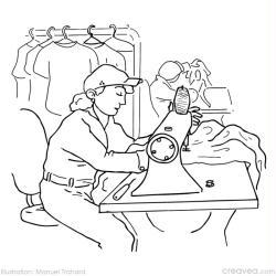 Coloriage des m tiers partie 3 id es et conseils coloriage - Dessin couturiere ...