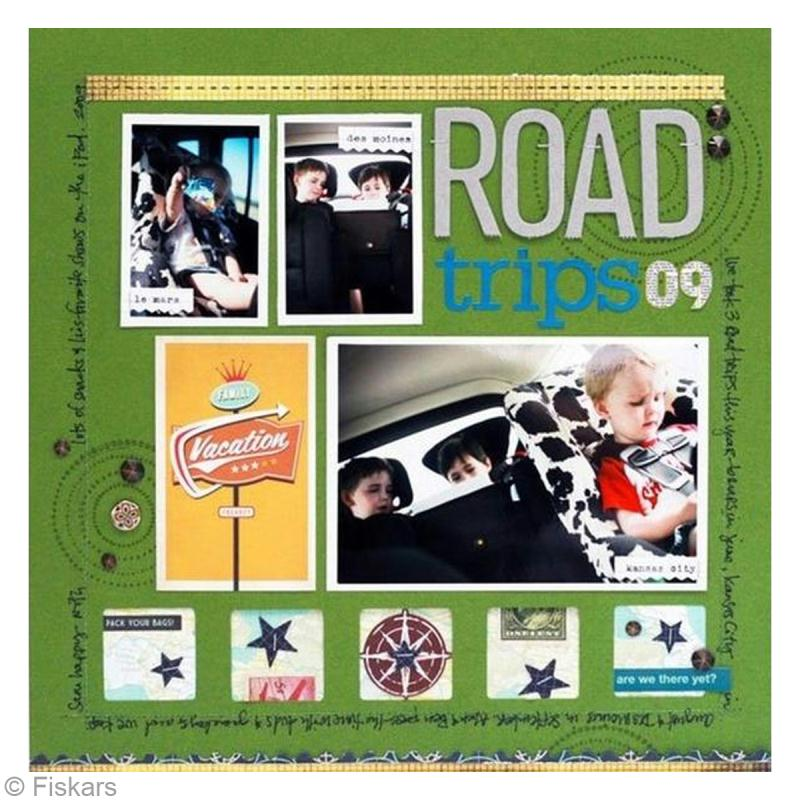 page scrapbooking road trip id es et conseils scrapbooking. Black Bedroom Furniture Sets. Home Design Ideas