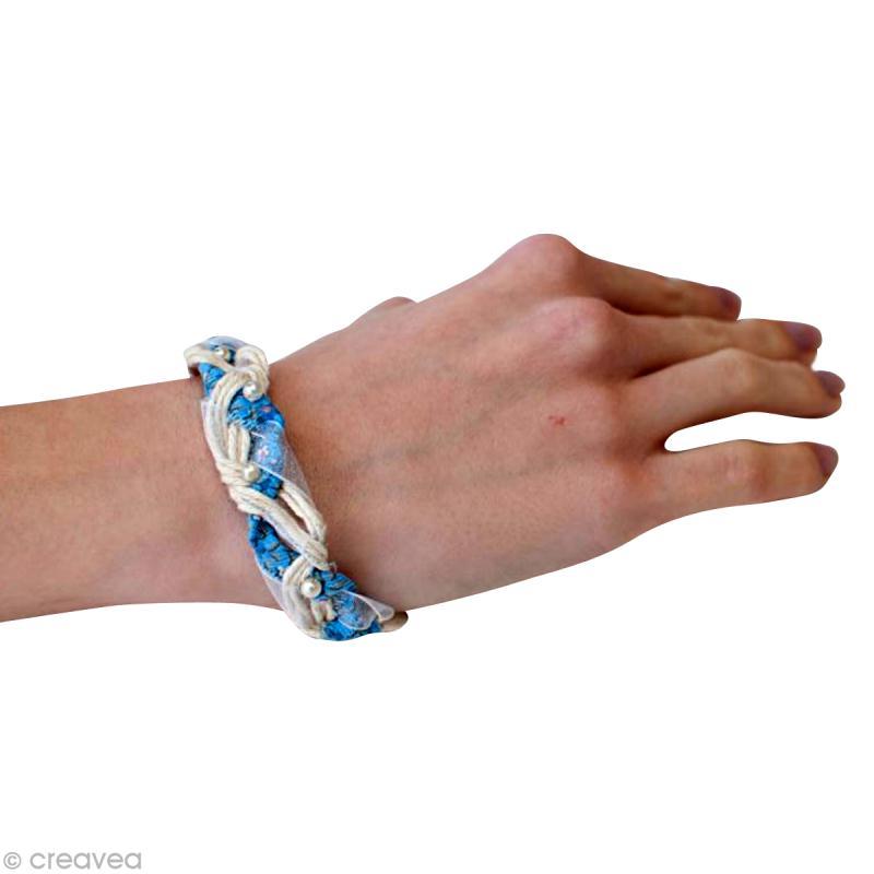 Bracelet de rubans id es et conseils perles et bijoux - Bracelet perle et ruban ...