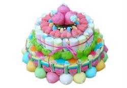 7. Présentation du gateau de bonbons