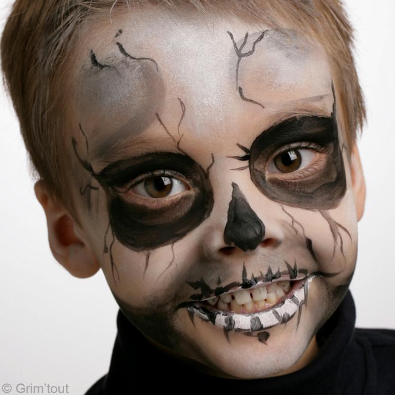 Maquillage de squelette pour halloween id es et conseils maquillage - Maquillage halloween facile enfant ...