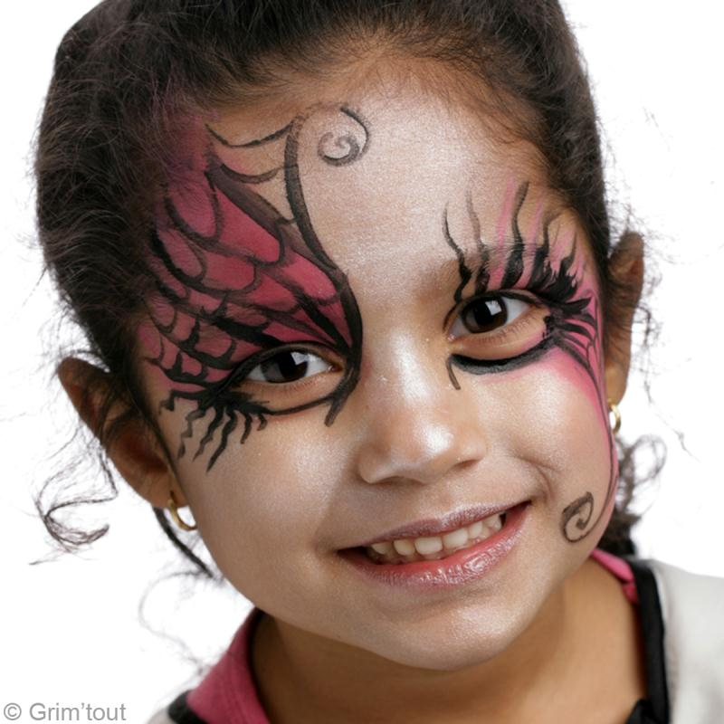 VIDEOS 10 Idées De Maquillage DHalloween Pour Enfant LExpress \u003d Maquillage  Halloween Fille. maquillage diablesse facile