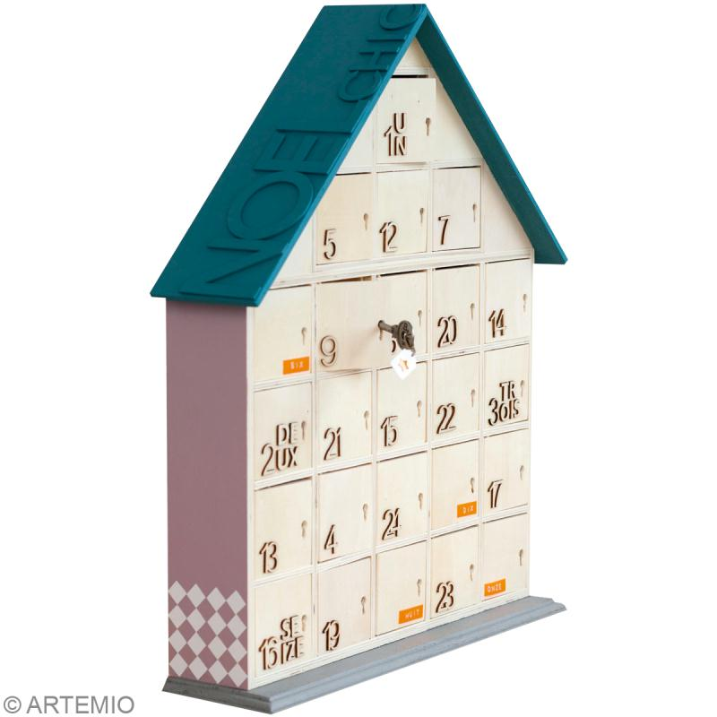Calendrier de l 39 avent en bois no l chic id es et conseils calendrier de - Maison calendrier de l avent ...
