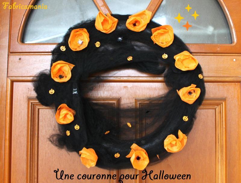 fabriquer une couronne de porte pour halloween id es et conseils halloween. Black Bedroom Furniture Sets. Home Design Ideas