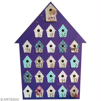 original calendrier de l avent violet id es et conseils. Black Bedroom Furniture Sets. Home Design Ideas