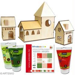 fabriquer un village de no l miniature id es et conseils no l. Black Bedroom Furniture Sets. Home Design Ideas