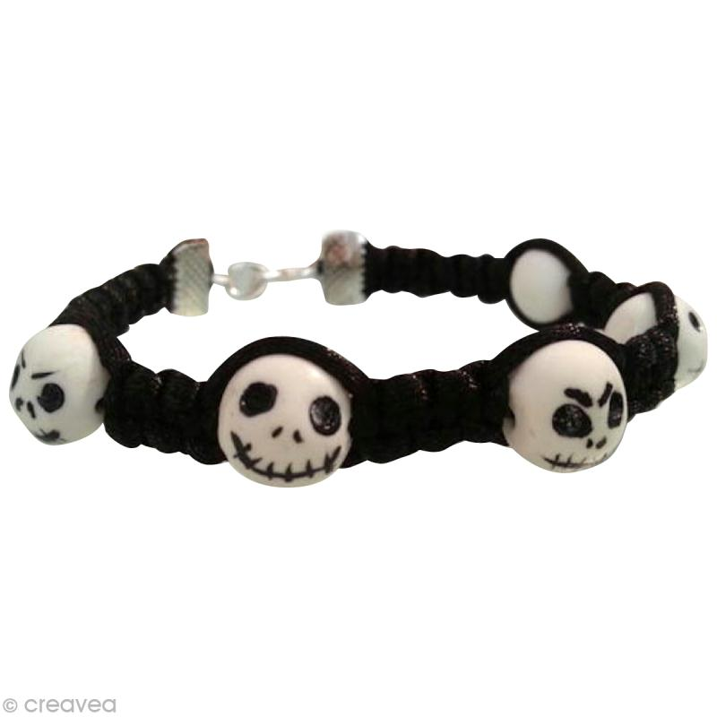 tuto fabriquer un bracelet t te de mort jack skellington id es et conseils perles et bijoux. Black Bedroom Furniture Sets. Home Design Ideas