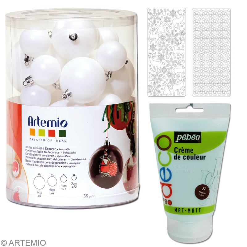Fabriquer des boules de no l d coratives id es et - Fabriquer ses boules de noel ...