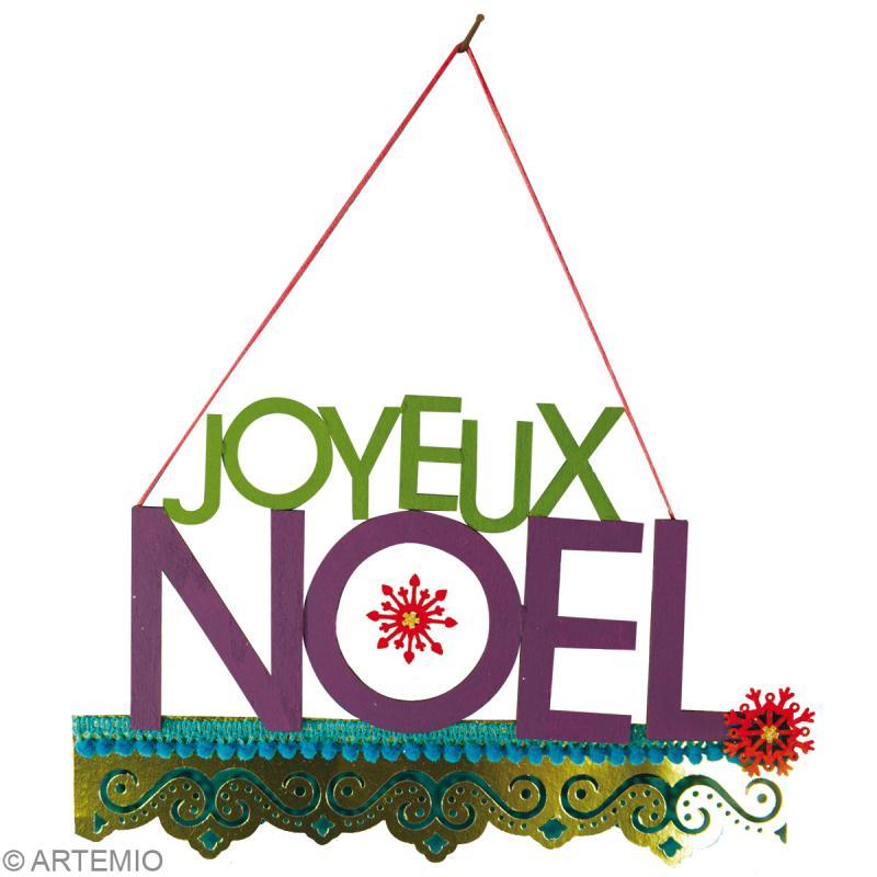 Décoration de Noël  Fabriquer une suspension Joyeux Noel