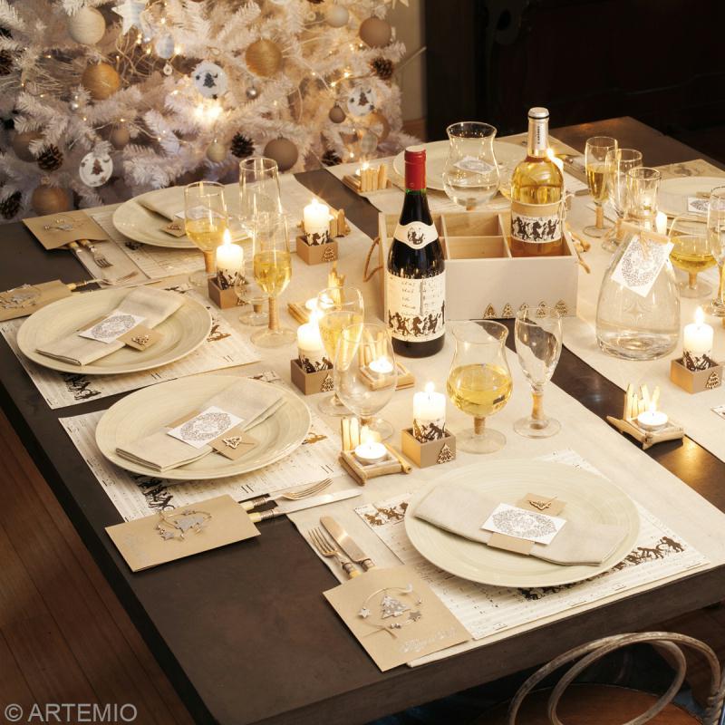 Decoration table de noel naturelle images - Deco de table noel ...