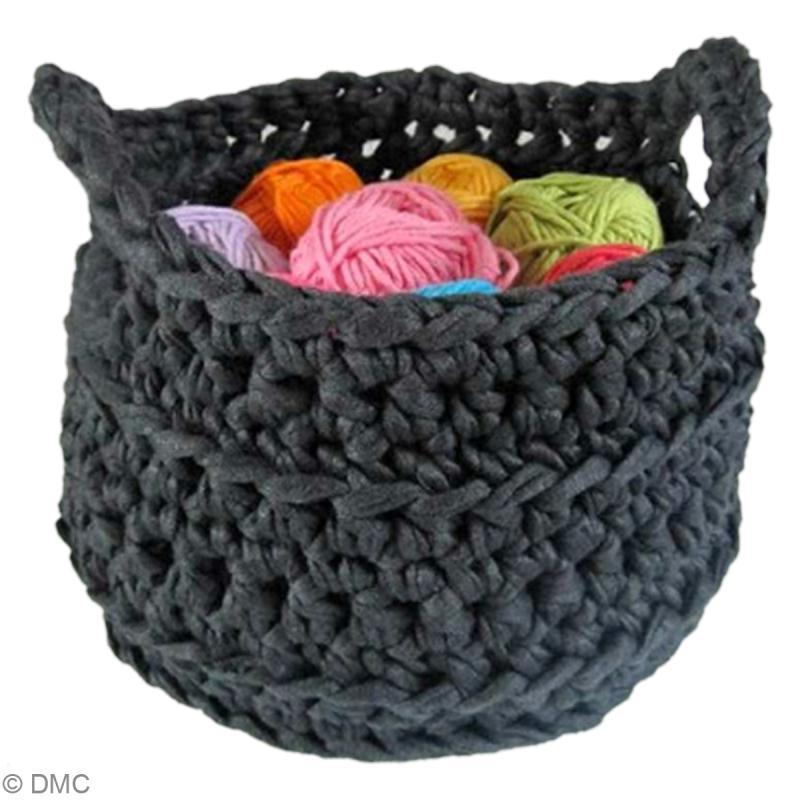 tuto zpagetti hoooked corbeille au crochet id es et conseils crochet et tricot. Black Bedroom Furniture Sets. Home Design Ideas