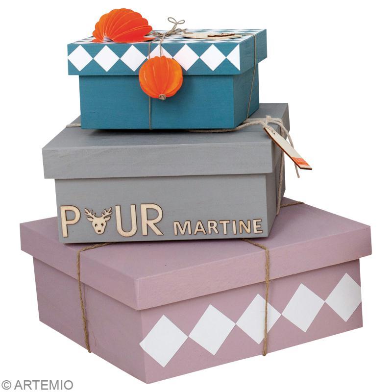 d corer des bo tes cadeau en bois id es et conseils no l. Black Bedroom Furniture Sets. Home Design Ideas