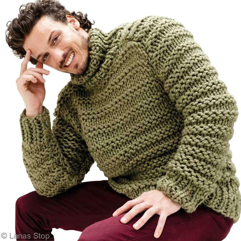 tricot pull jersey homme noruega n 3 catalogue lanas stop n 125 id es et conseils crochet et. Black Bedroom Furniture Sets. Home Design Ideas