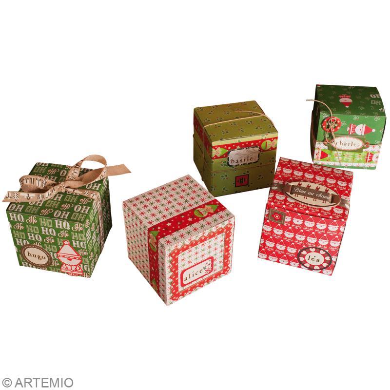 petites bo tes cadeaux cubes diy no l na f id es et conseils no l. Black Bedroom Furniture Sets. Home Design Ideas