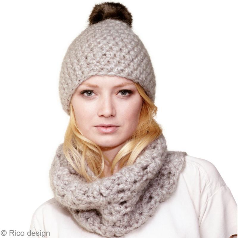 modele snood crochet femme