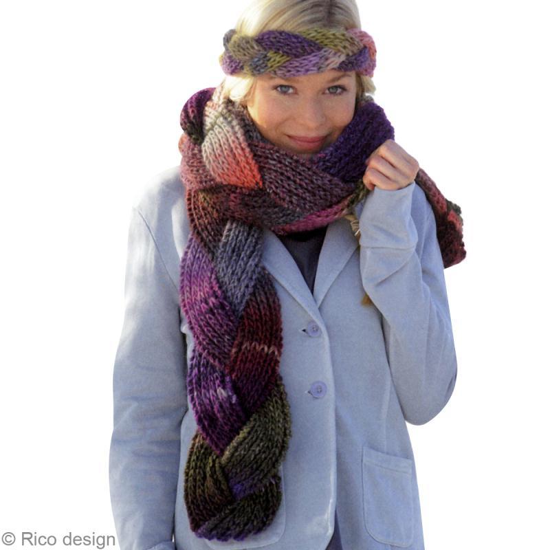 mod le tricot une charpe tress e en laine id es et conseils crochet et tricot. Black Bedroom Furniture Sets. Home Design Ideas