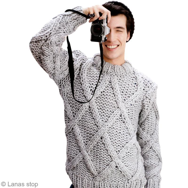tricot pull homme en laine noruega lanas stop n 123 id es et conseils crochet et tricot. Black Bedroom Furniture Sets. Home Design Ideas