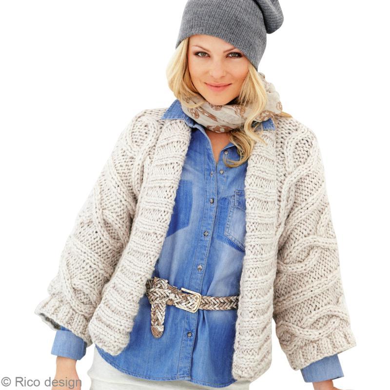 Modèle à tricoter gratuit Veste Femme Laine Katia coton Lido