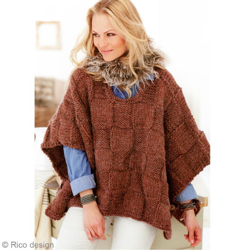 photo tricoter un poncho femme