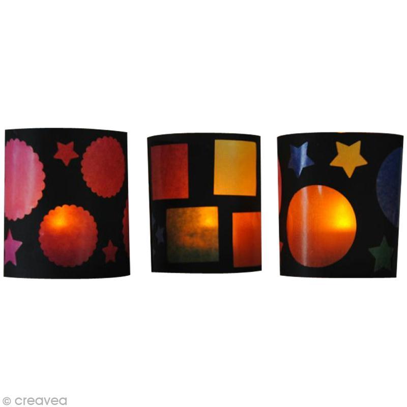 Fabriquer des photophores avec du papier vitrail id es for Decoration avec papier