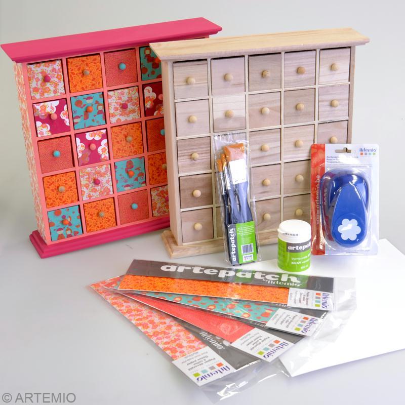 personnaliser un meuble tiroirs avec de l 39 artepatch id es et conseils d copatch artepatch. Black Bedroom Furniture Sets. Home Design Ideas