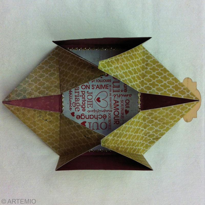 enveloppe origami facile diy id es et conseils saint valentin. Black Bedroom Furniture Sets. Home Design Ideas